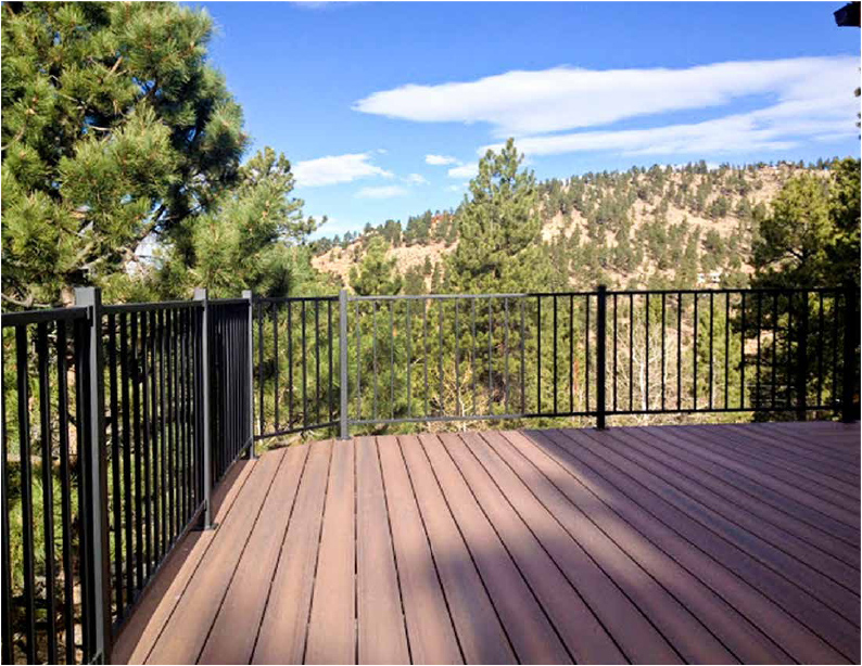 Black Sand Deck Railing