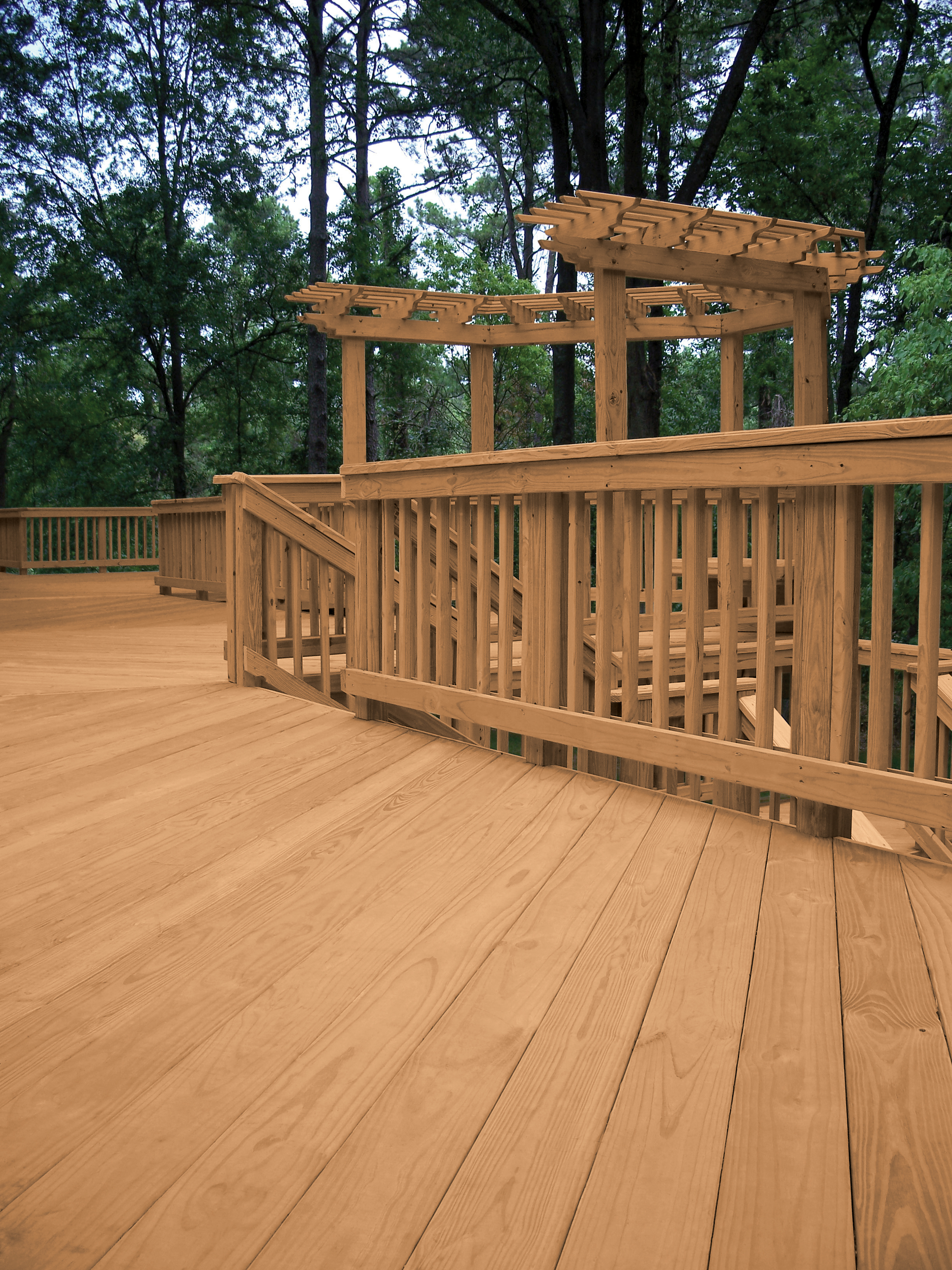 MicroPro® Sienna Deck and Rail