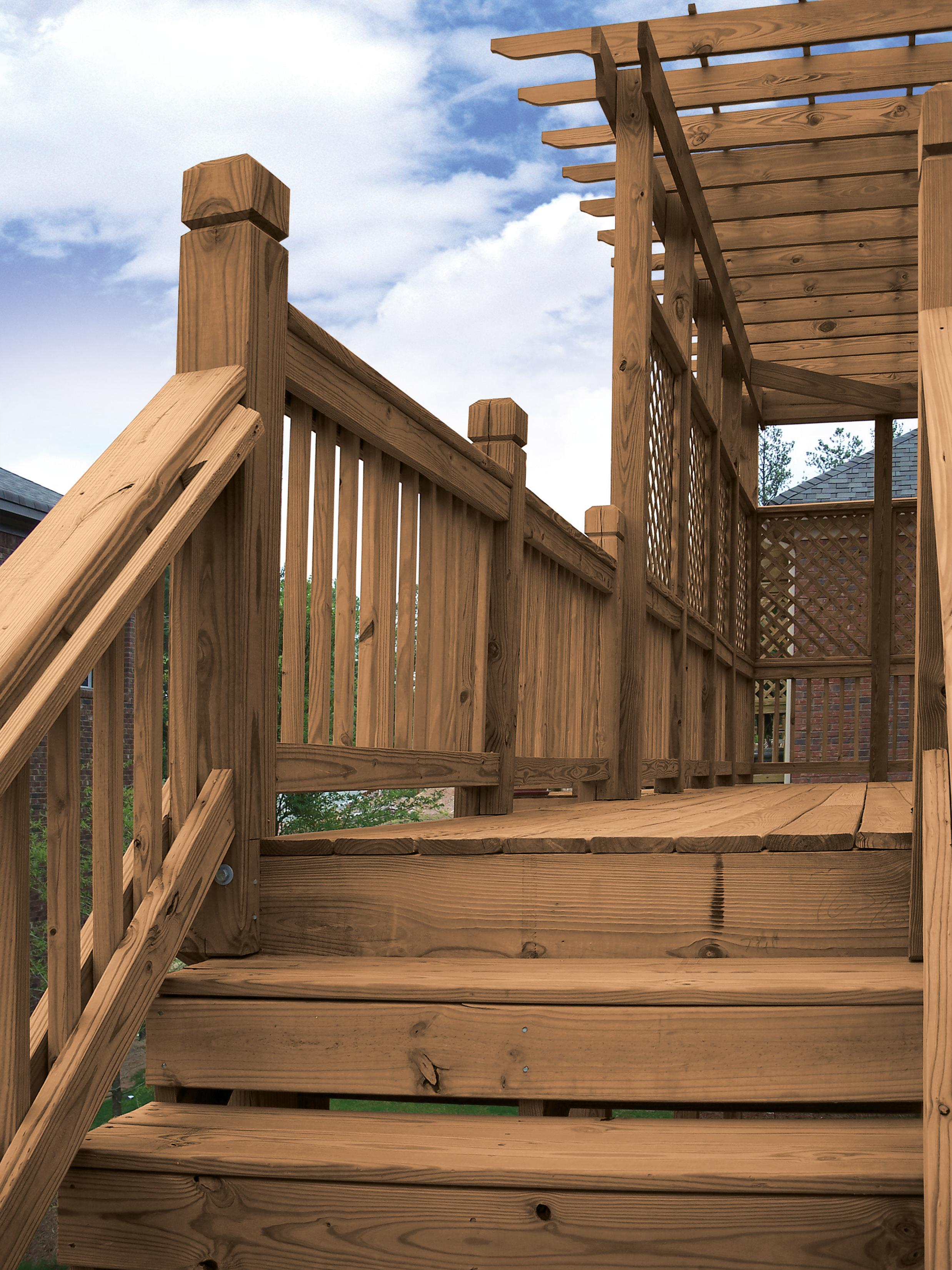 MicroPro® Sienna Deck Stair Rail